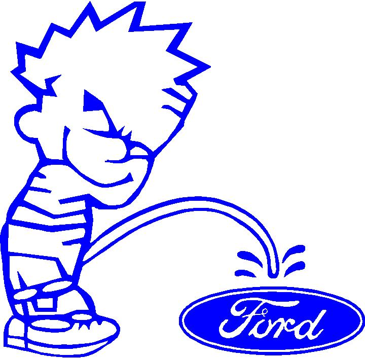 Ford Peeing on Chevy Sticker http://eldred.wordpress.com/2006/04/
